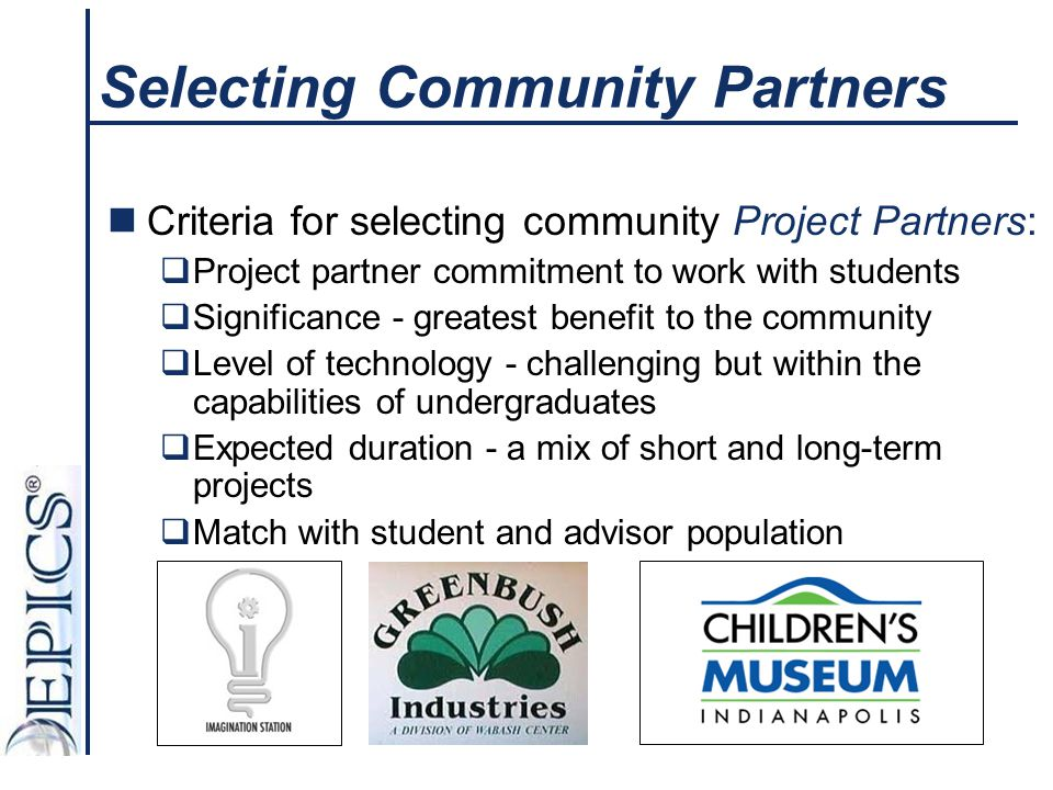 Selecting Community Partners