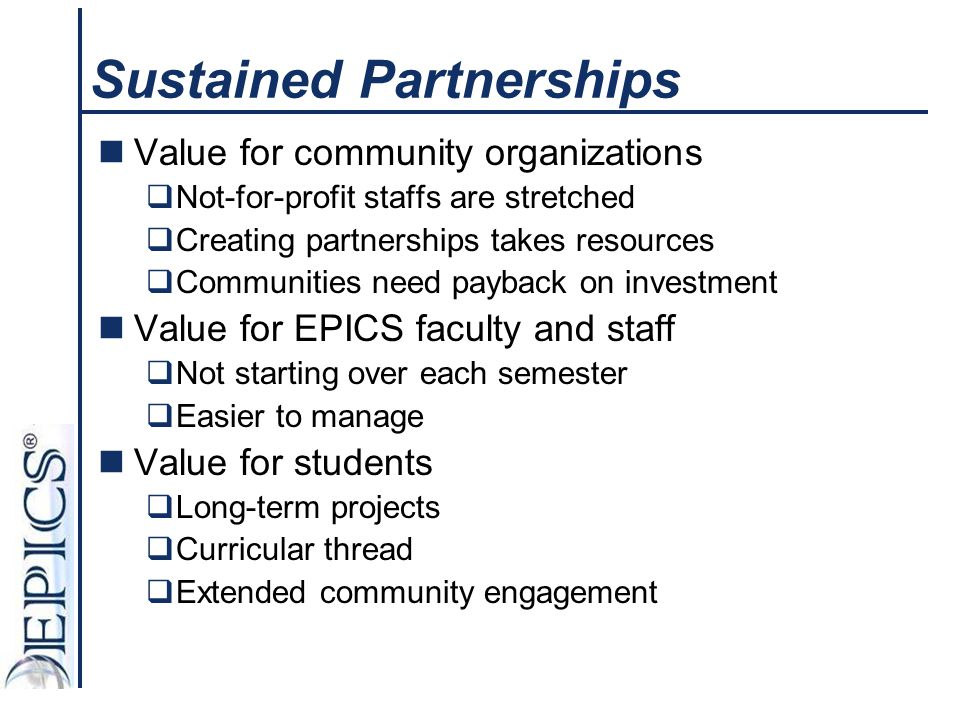 Sustained Partnerships