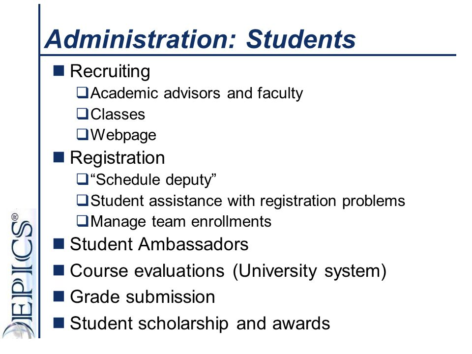 Administration: Students