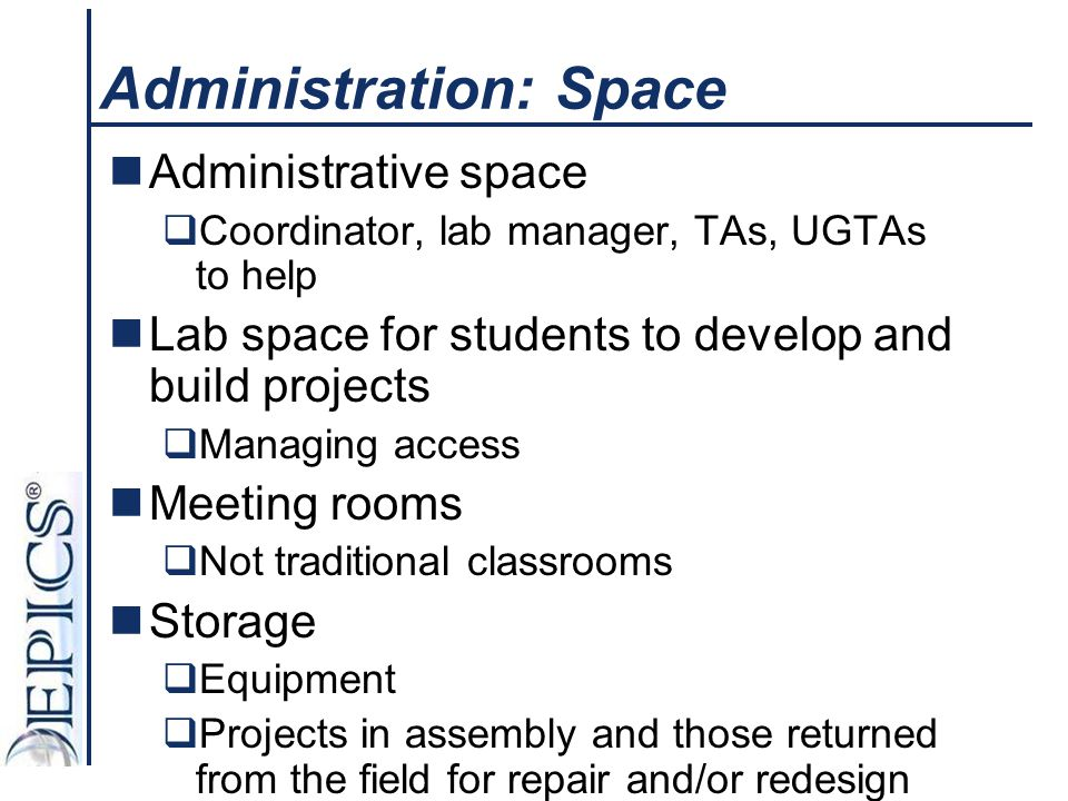 Administration: Space
