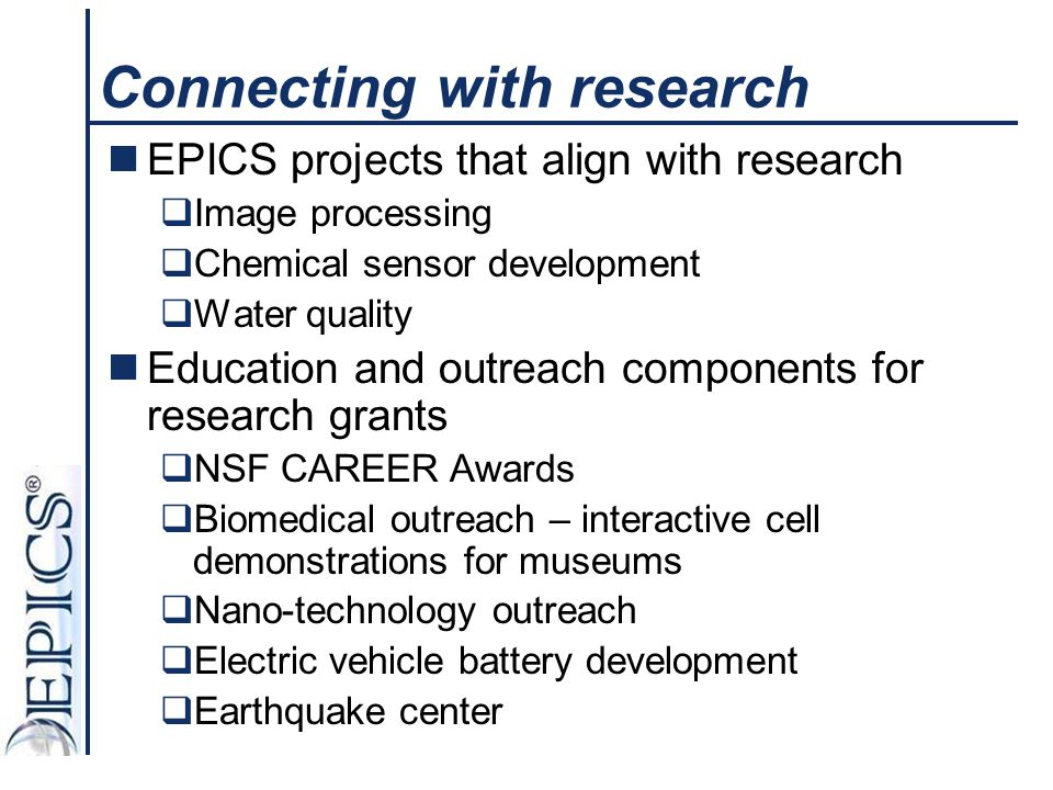 Connecting with research