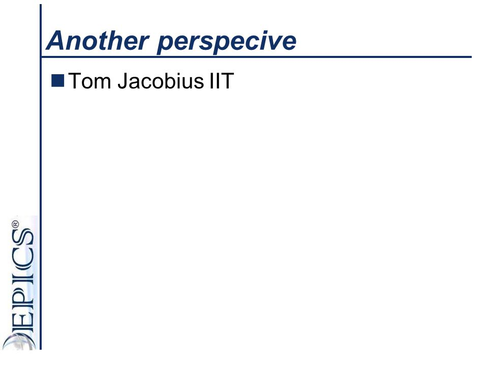 Another perspecive Tom Jacobius IIT