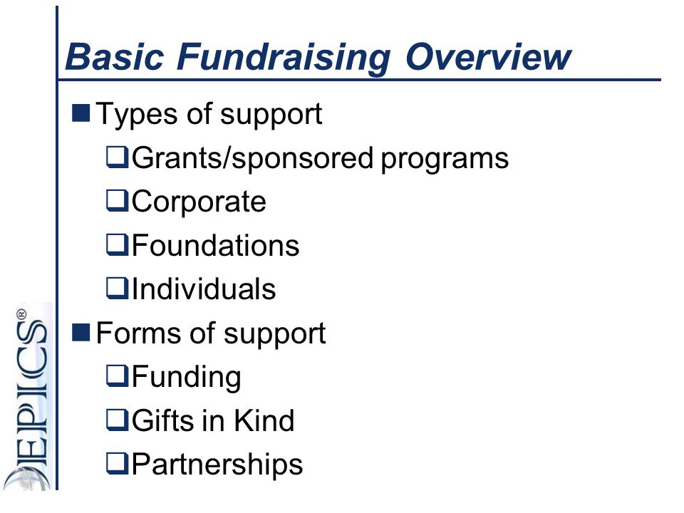 Basic Fundraising Overview