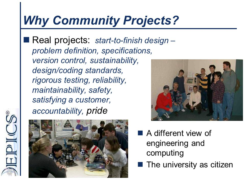 Why Community Projects