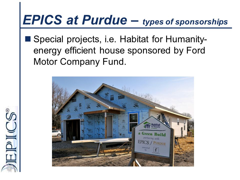 EPICS at Purdue – types of sponsorships