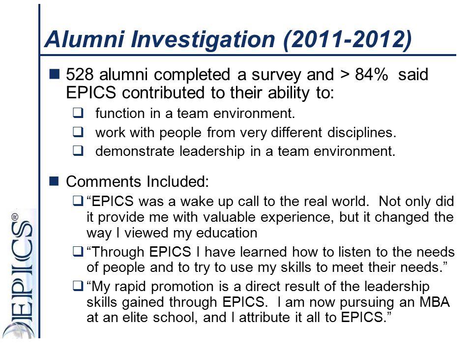 Alumni Investigation (2011-2012)
