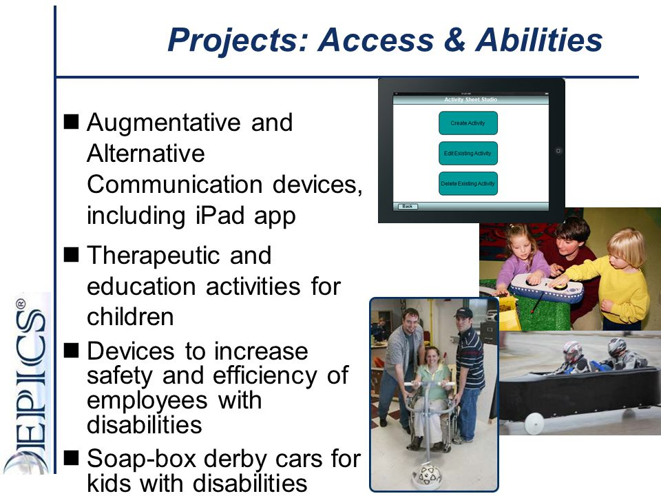 Projects: Access & Abilities