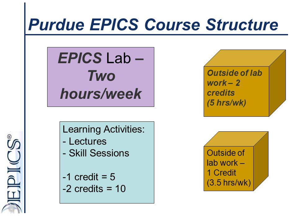 Purdue EPICS Course Structure