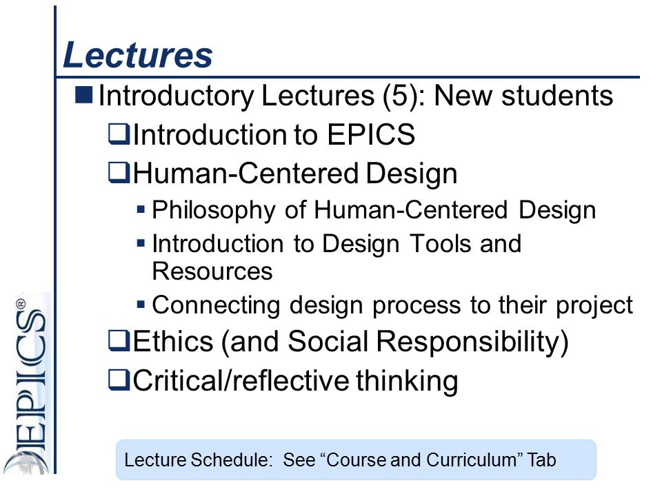 Lectures Introductory Lectures (5): New students Introduction to EPICS