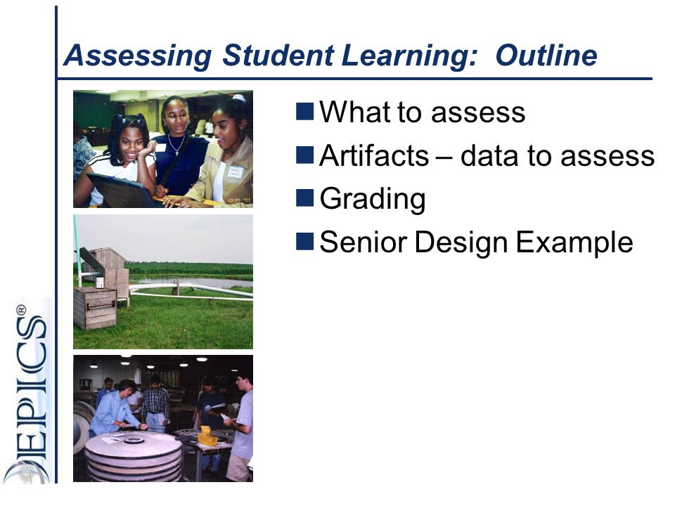 Assessing Student Learning: Outline