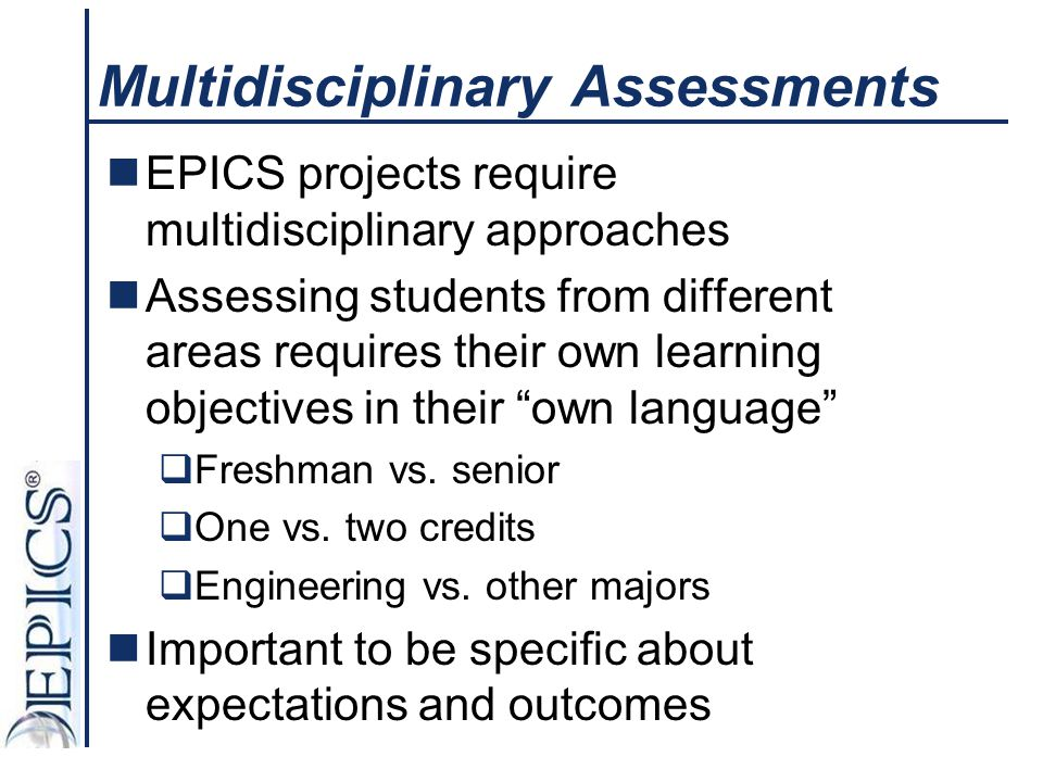 Multidisciplinary Assessments