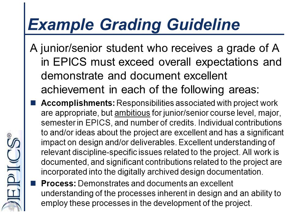 Example Grading Guideline