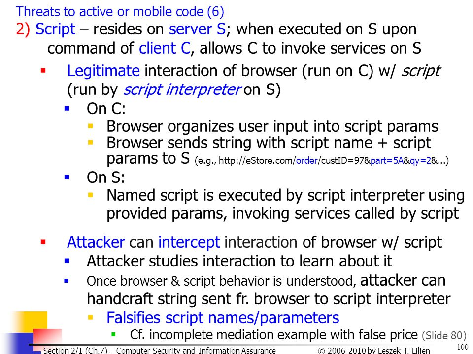Browser organizes user input into script params