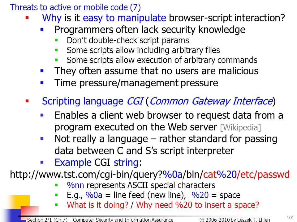 Why is it easy to manipulate browser-script interaction