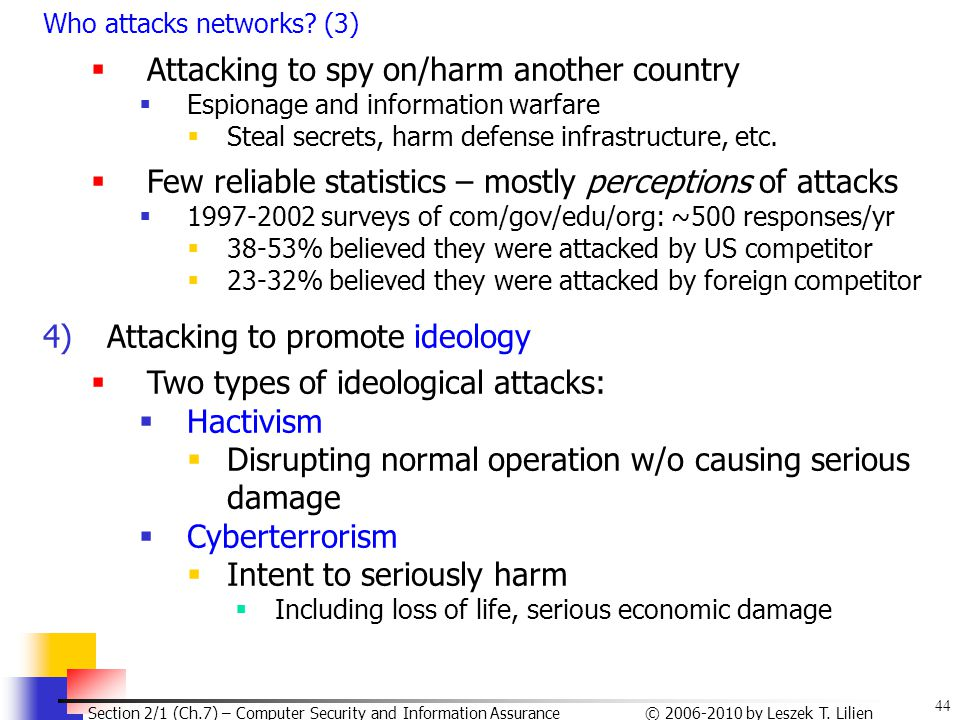 Attacking to spy on/harm another country