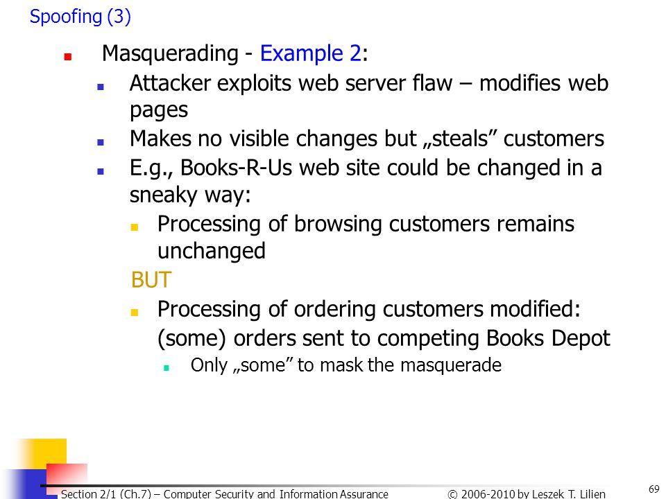 Masquerading - Example 2: