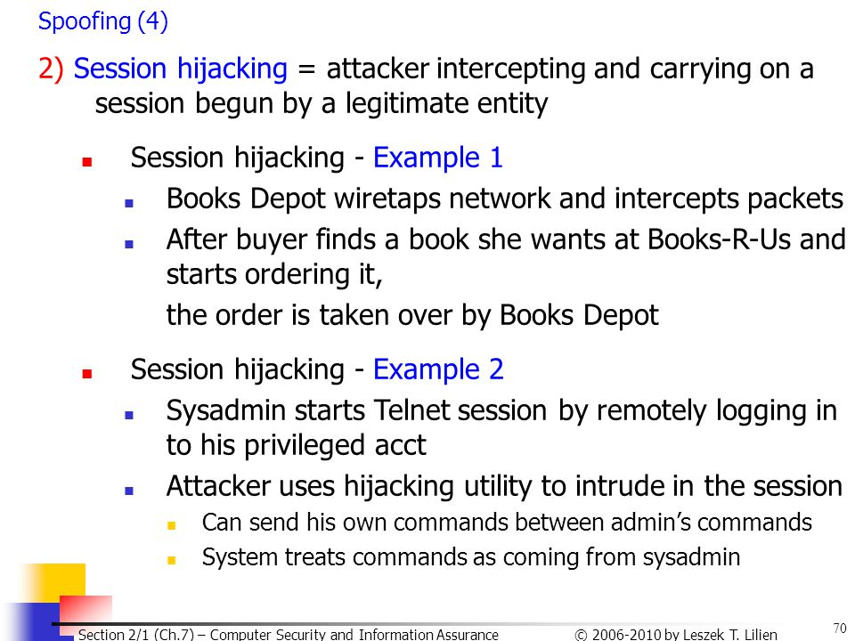 Session hijacking - Example 1