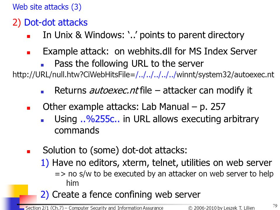 In Unix & Windows: '..' points to parent directory