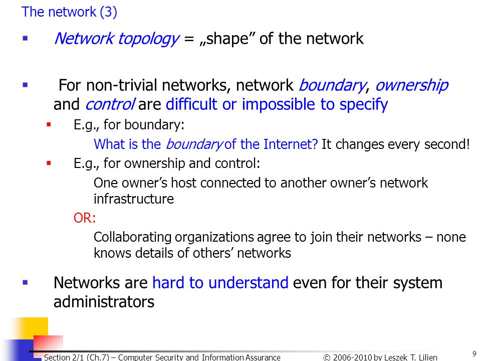 "Network topology = ""shape of the network"