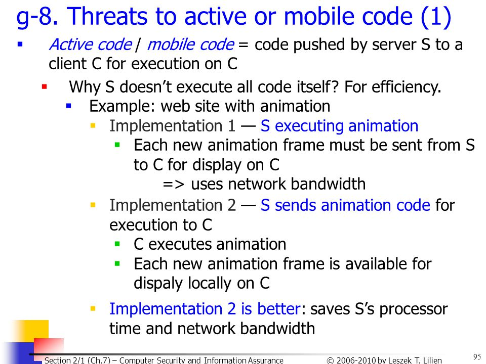 g-8. Threats to active or mobile code (1)