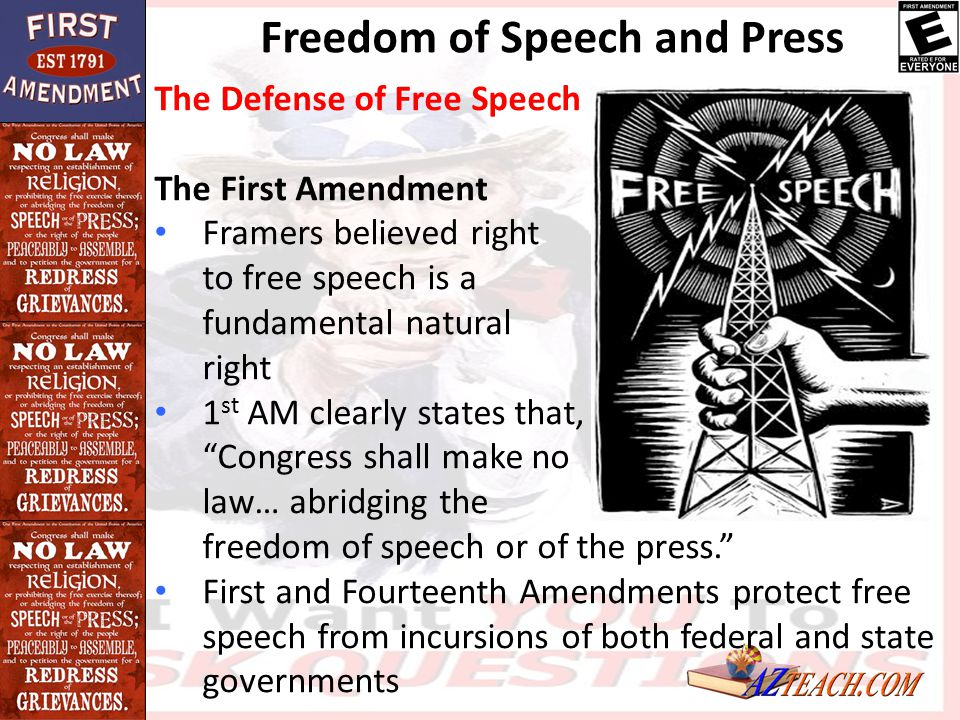the evolution of the first amendment essay Specifically, the first amendment includes the most important rights for a truly democratic society: writework has over 100,000 sample papers.
