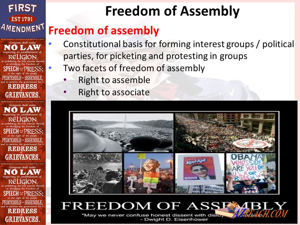 Freedom of Assembly Freedom of assembly