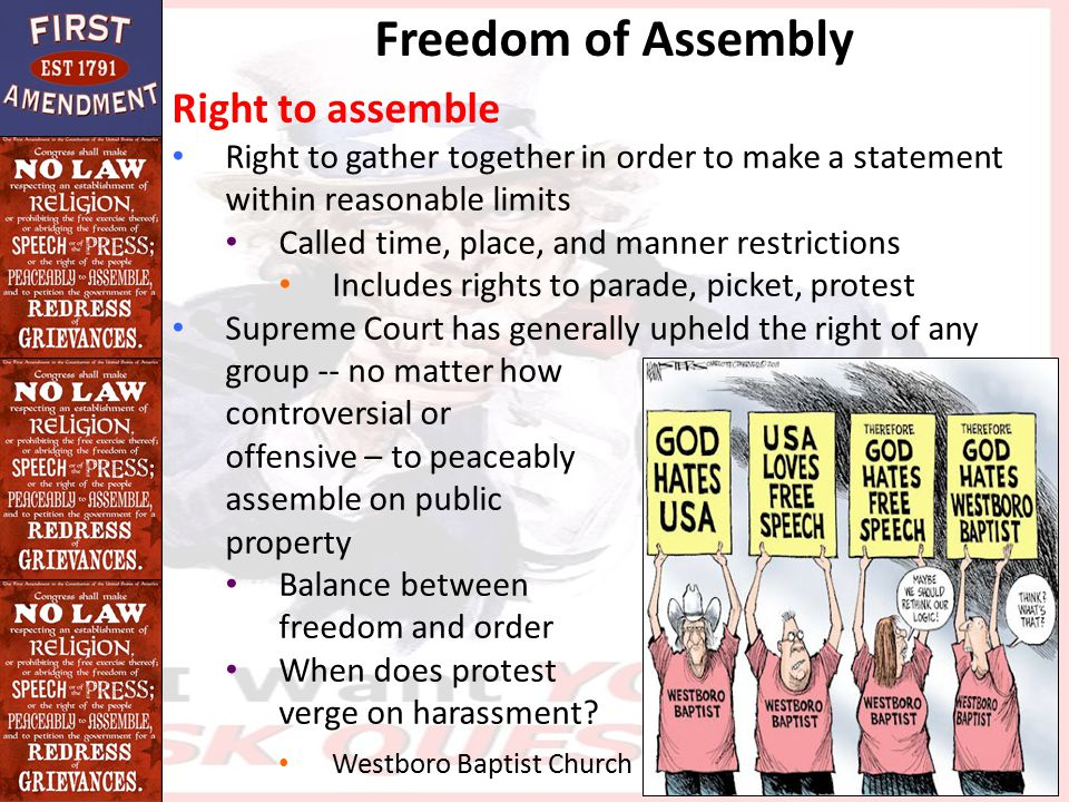 Freedom of Assembly Right to assemble