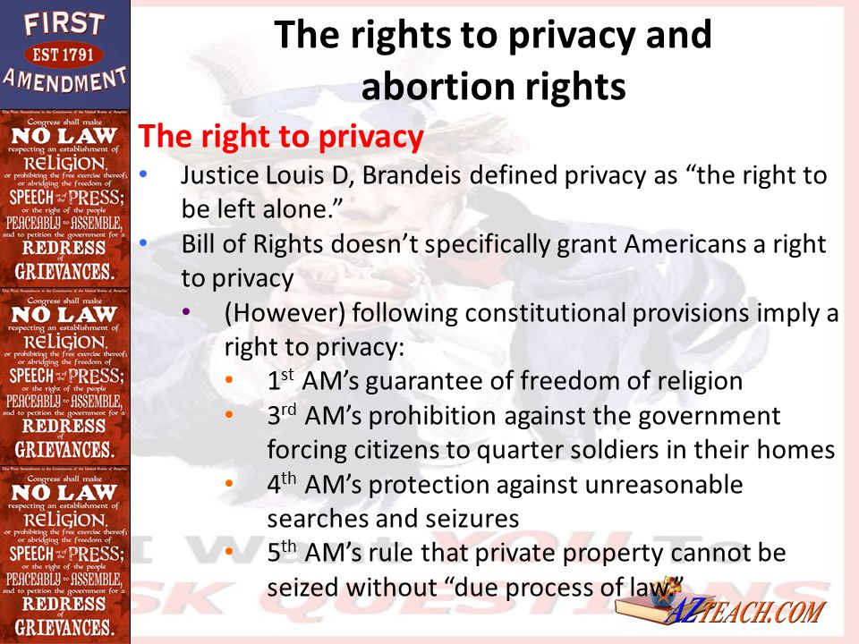 The rights to privacy and