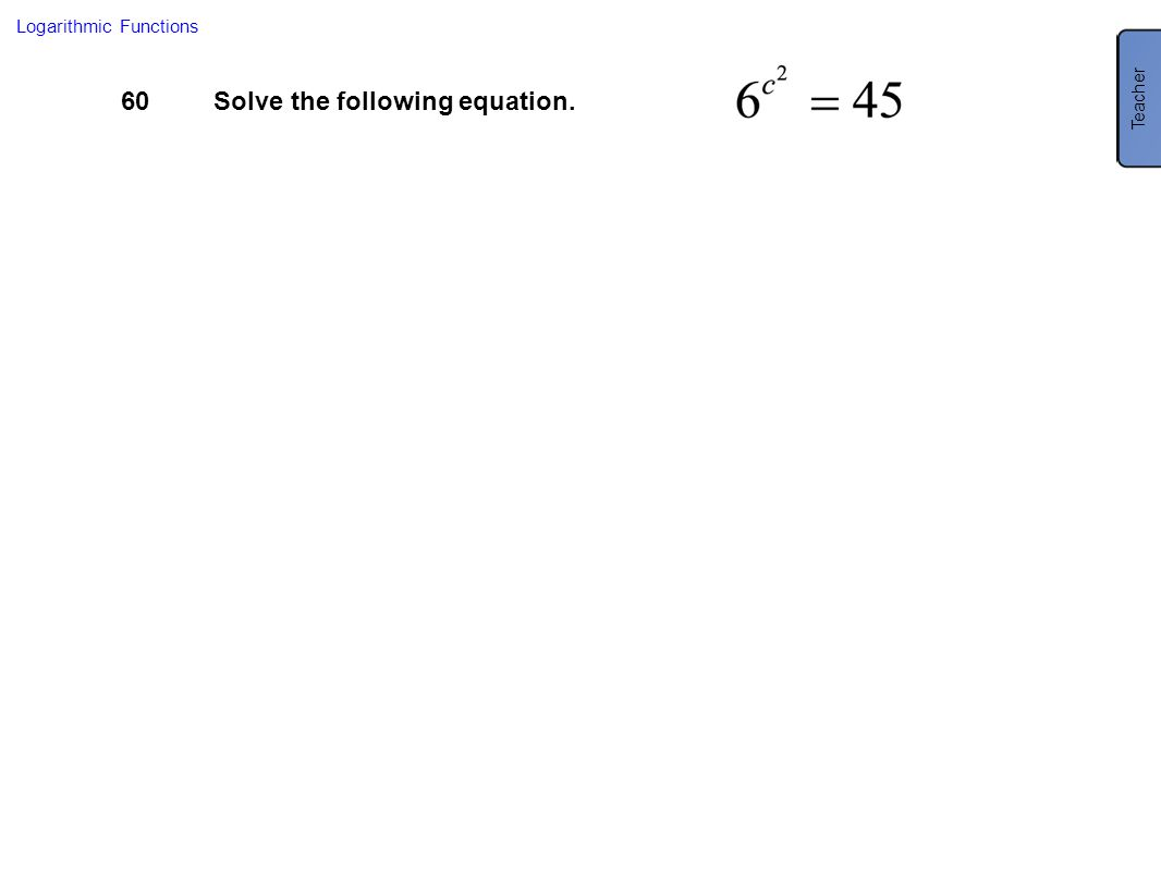 Solve the following equation.