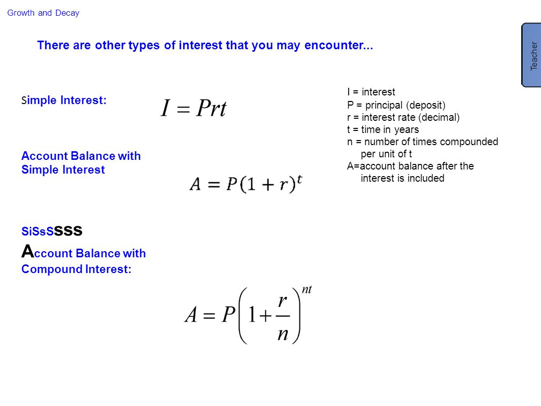 Account Balance with Compound Interest: