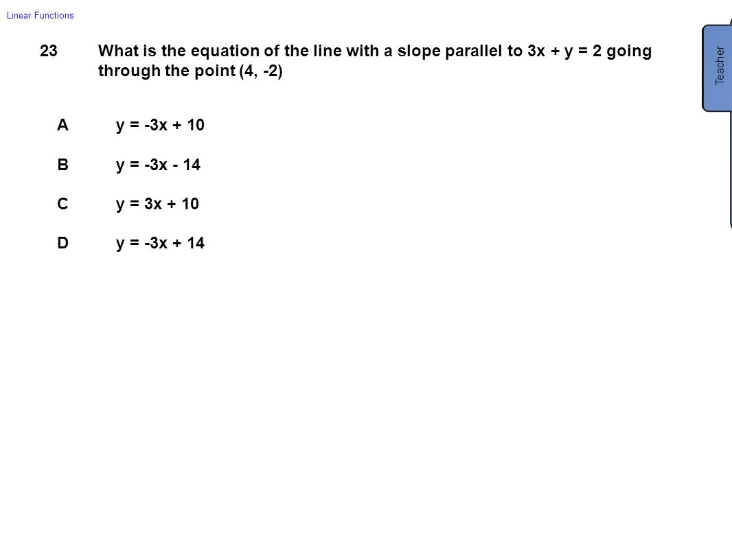 What Is The Equation Of The Line With A Slope Finding Equations Using A  Point