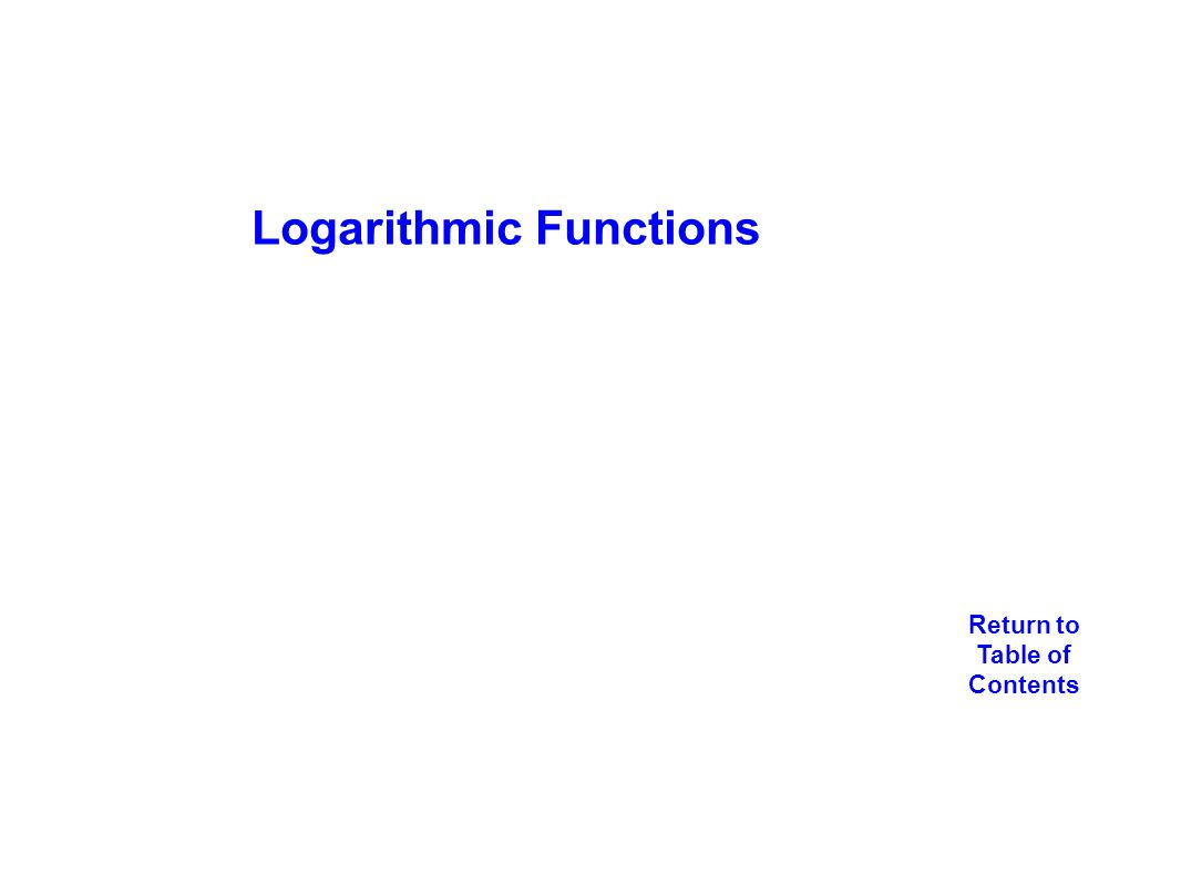 97 Logarithmic Functions New Jersey Center For Teaching And Learning Ppt  Download Equation