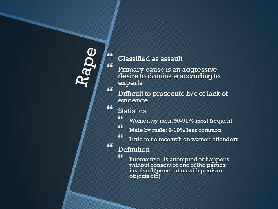 Rape Classified as assault