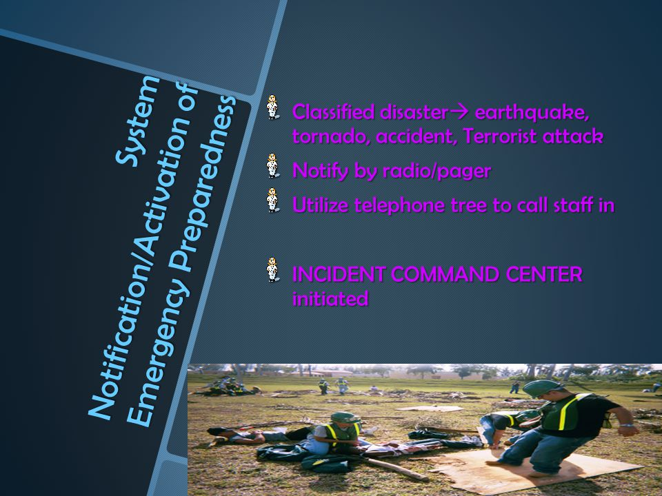 System Notification/Activation of Emergency Preparedness