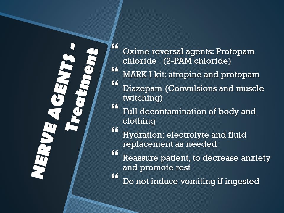 NERVE AGENTS - Treatment