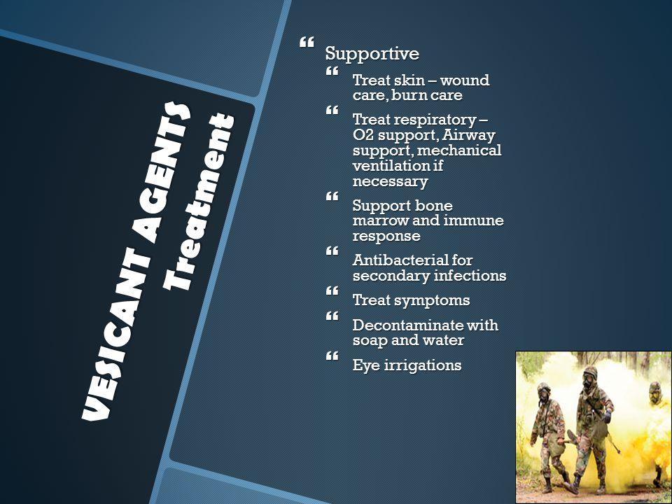 VESICANT AGENTS Treatment