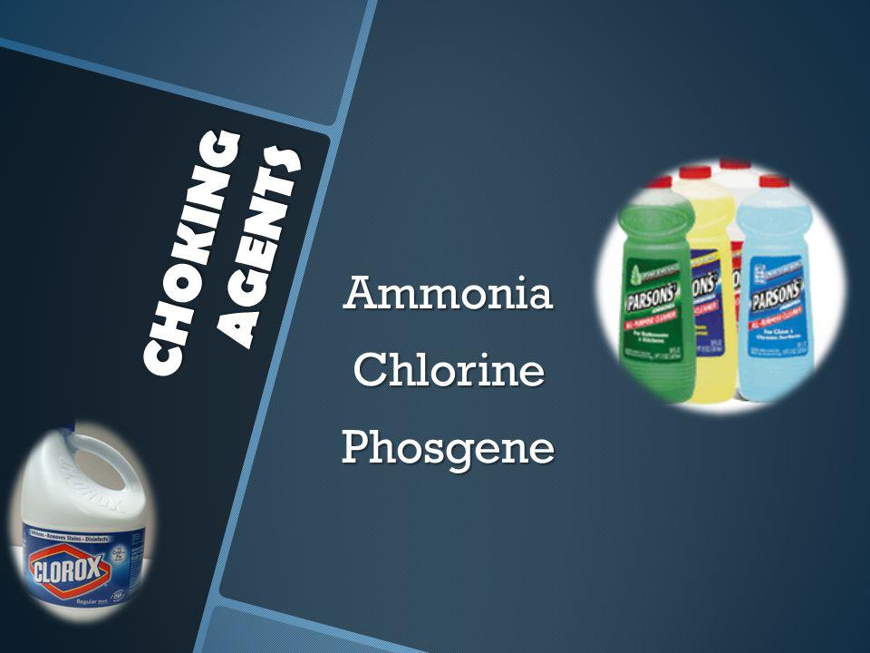 Ammonia Chlorine Phosgene