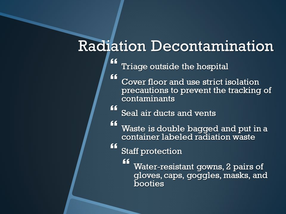 Radiation Decontamination
