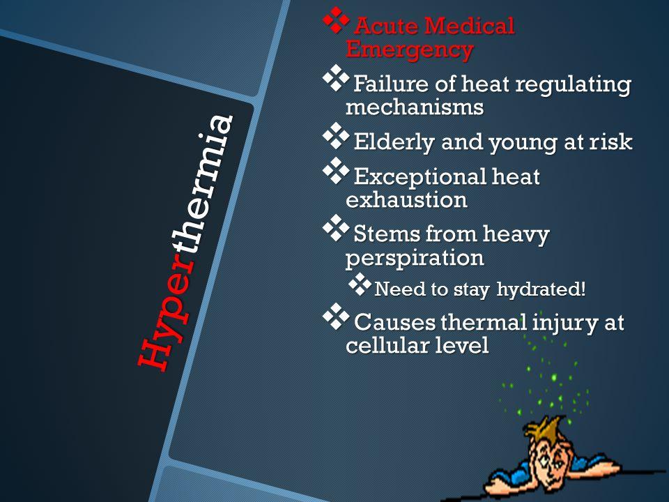 Hyperthermia Acute Medical Emergency