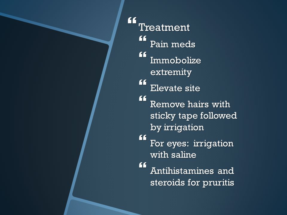 Treatment Pain meds Immobolize extremity Elevate site
