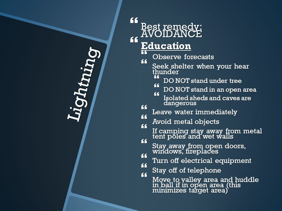 Lightning Best remedy: AVOIDANCE Education Observe forecasts