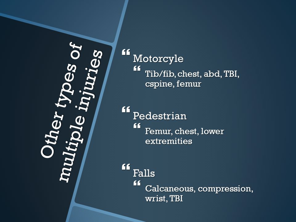 Other types of multiple injuries