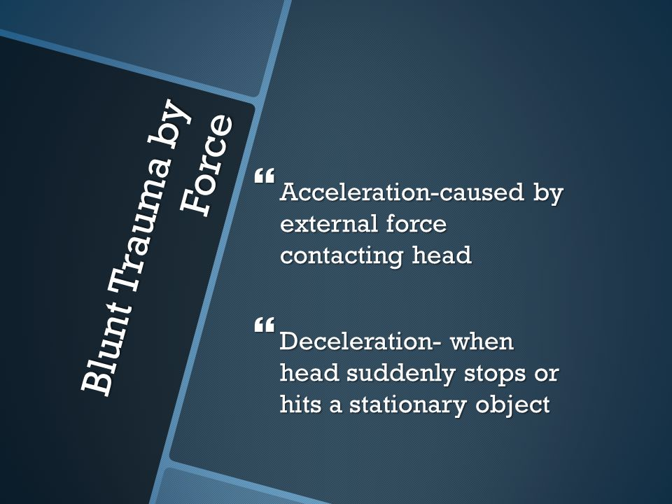 Acceleration-caused by external force contacting head
