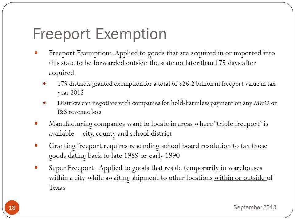 Freeport Exemption