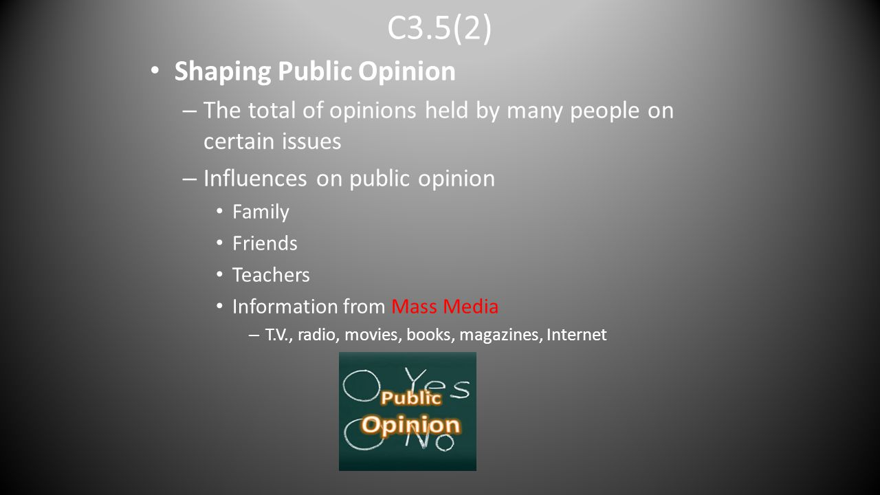C3.5(2) Shaping Public Opinion