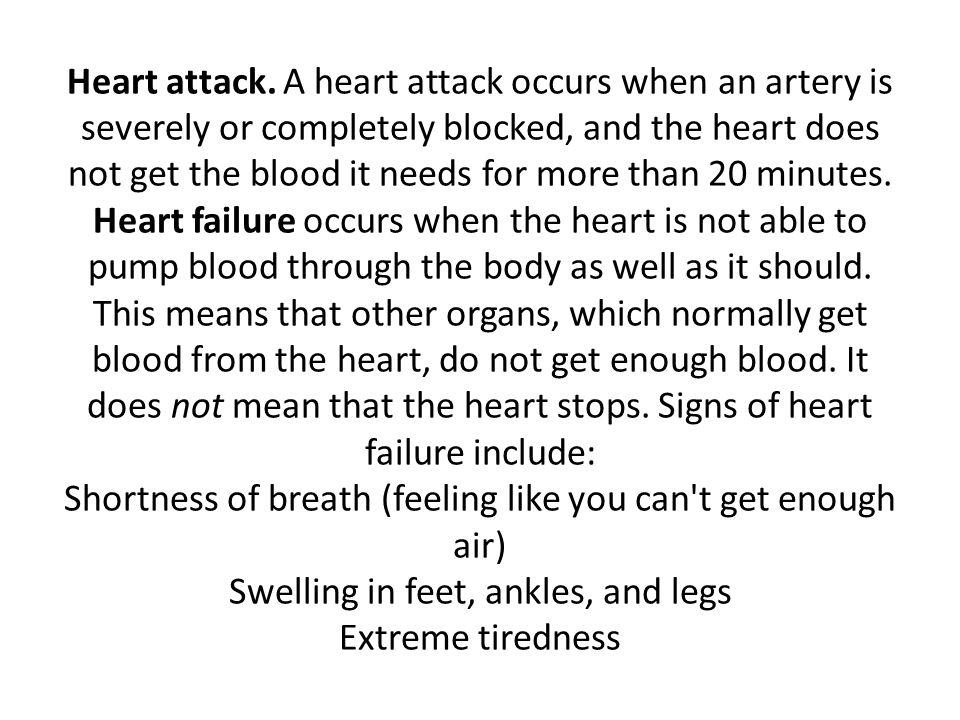 Heart attack.