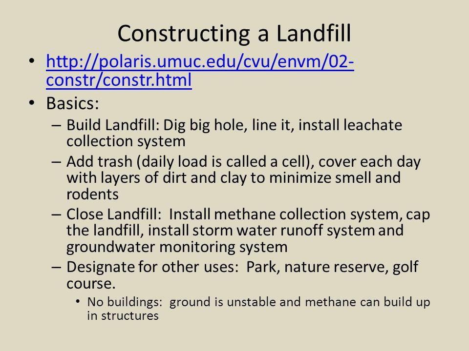 Constructing a Landfill