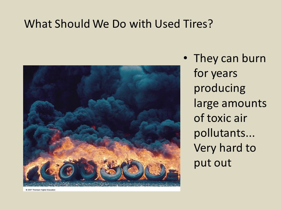 What Should We Do with Used Tires