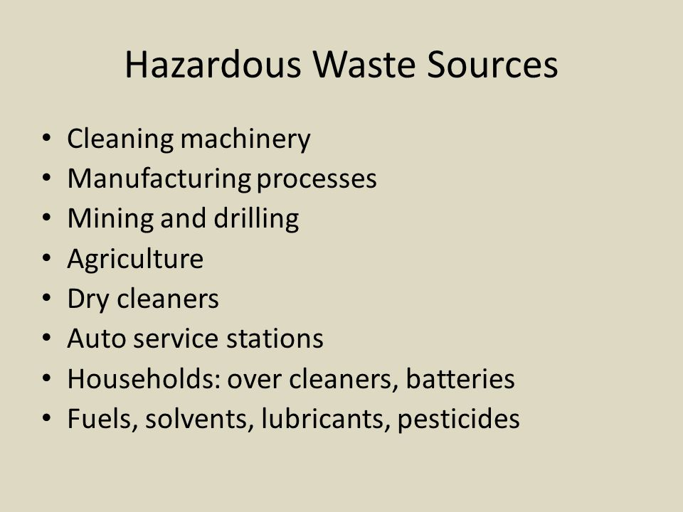 Hazardous Waste Sources