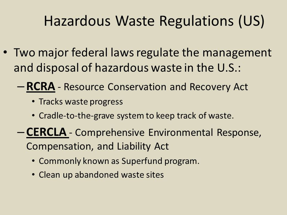 Hazardous Waste Regulations (US)
